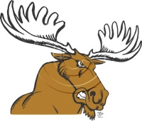 Moose clipart angry #3