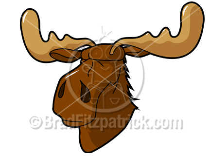 Moose clipart angry #8