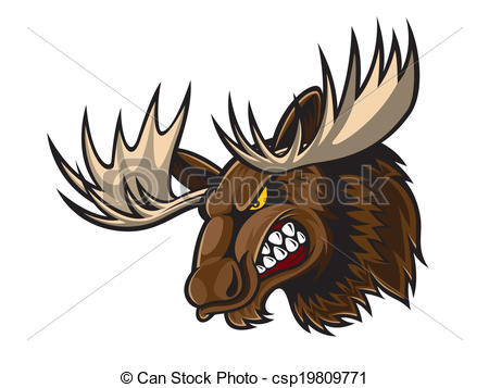 Buck clipart mean Illustration Vectors cartoon Head moose