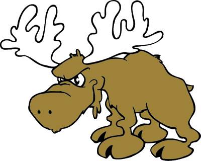 Moose clipart angry #1