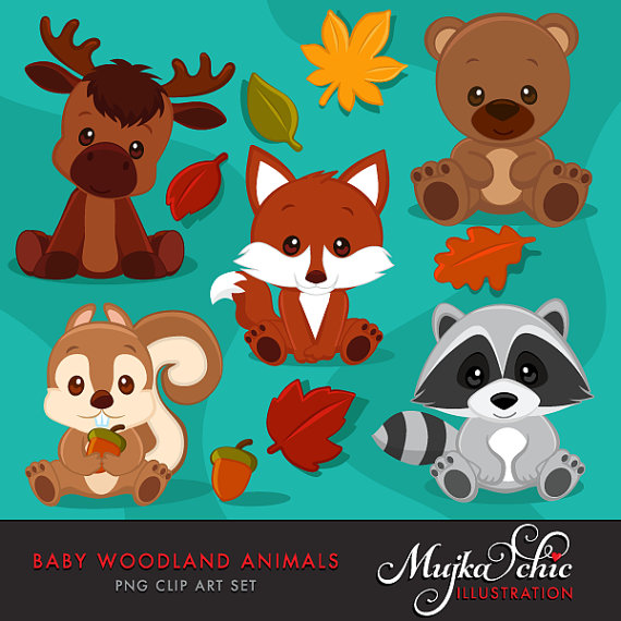 Baby Animal clipart woodland creature Clipart Baby Animals Woodland Baby