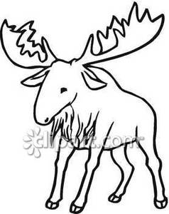 Moose clipart ear Black Clipart and Moose And