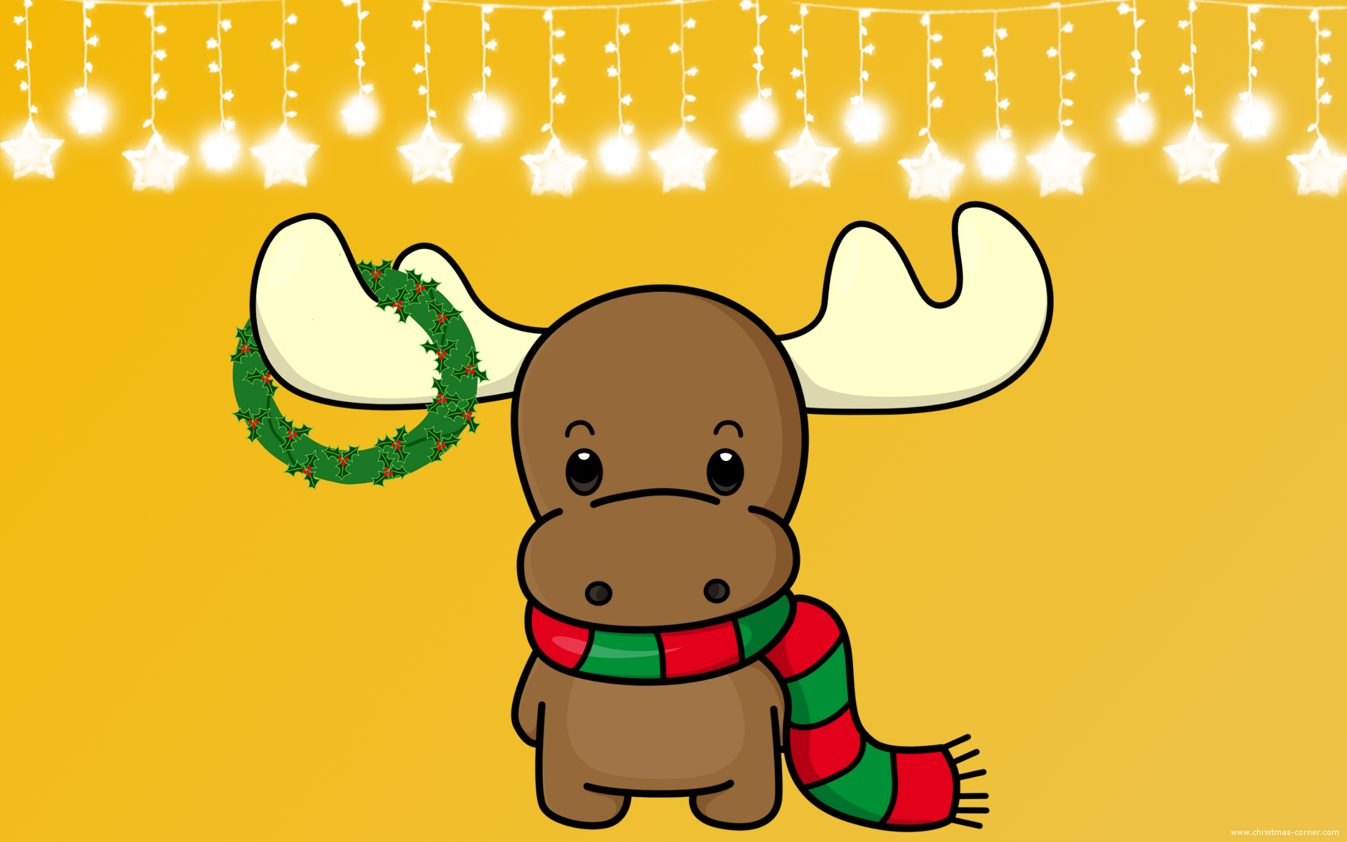 Moose clipart ear Christmas Festive Wallpaper Christmas Wallpaper