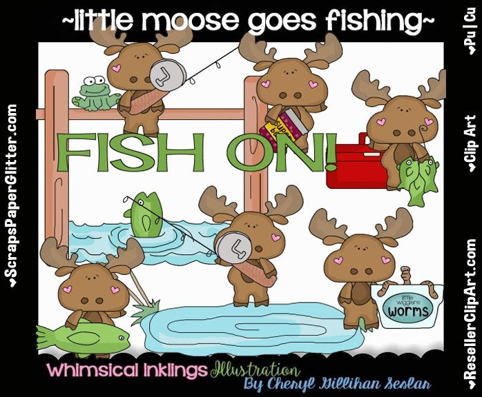 Moose clipart fishing By Instant Image Image Commercial