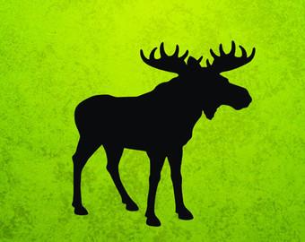 Moose clipart green Svg Etsy Moose Moose ai