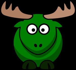 Moose clipart green Clip  clip Clker Green