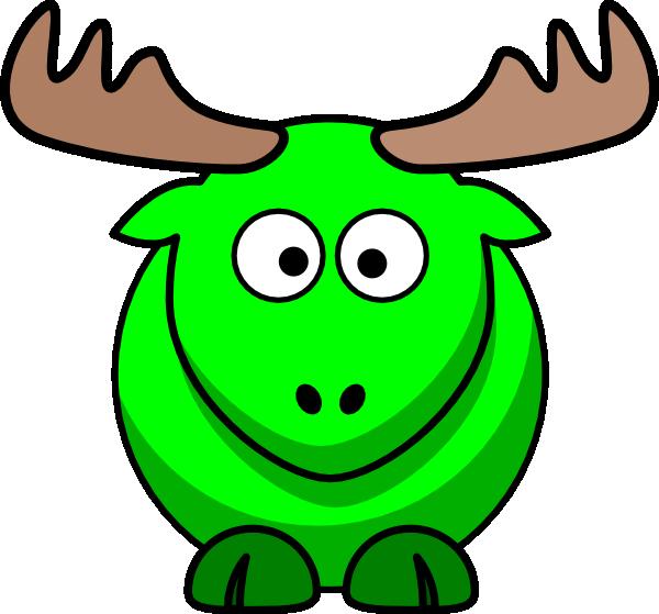 Moose clipart green Clker Kids public royalty clip