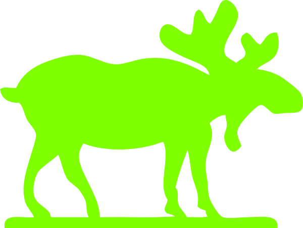 Moose clipart green Image online vector at Download
