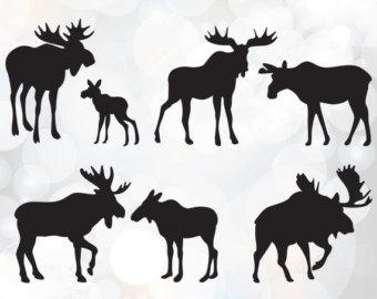 Moose clipart michigan #5