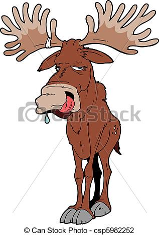 Moose clipart old #2