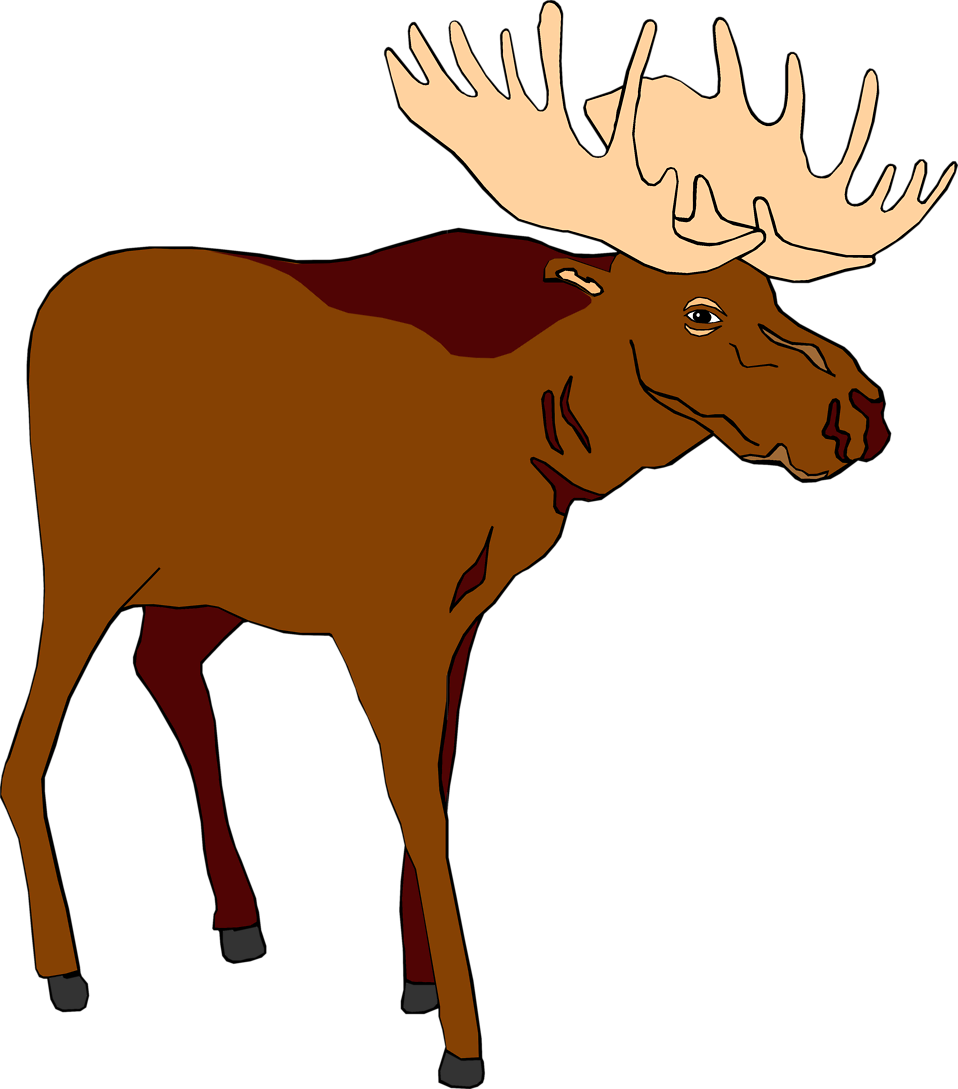 Moose clipart old #1