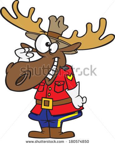 Moose clipart santa #6