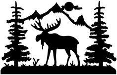 Moose clipart scene #2