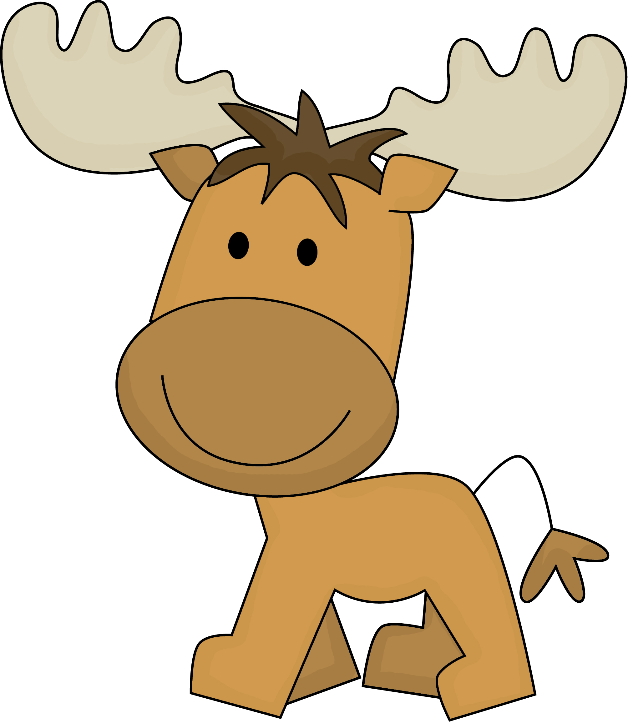 Baby Animal clipart moose Cute images art clip moose