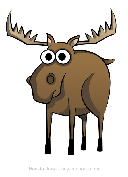 Moose clipart strong #3