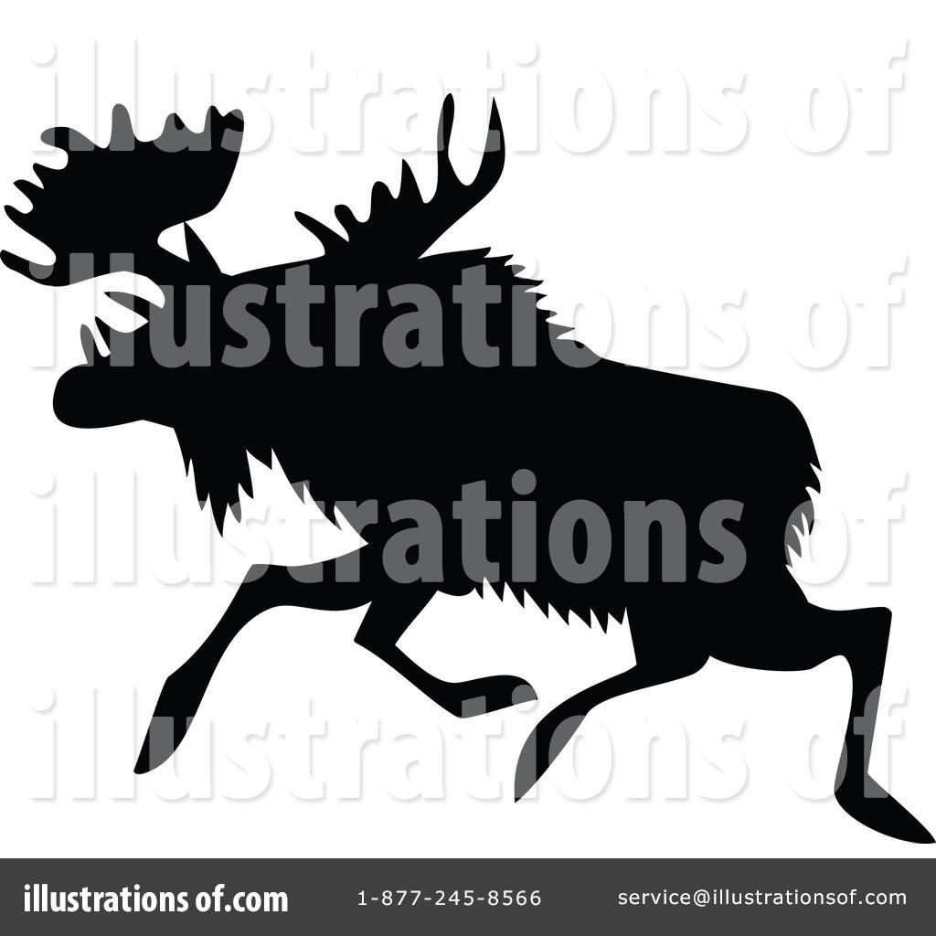 Moose clipart vintage #11
