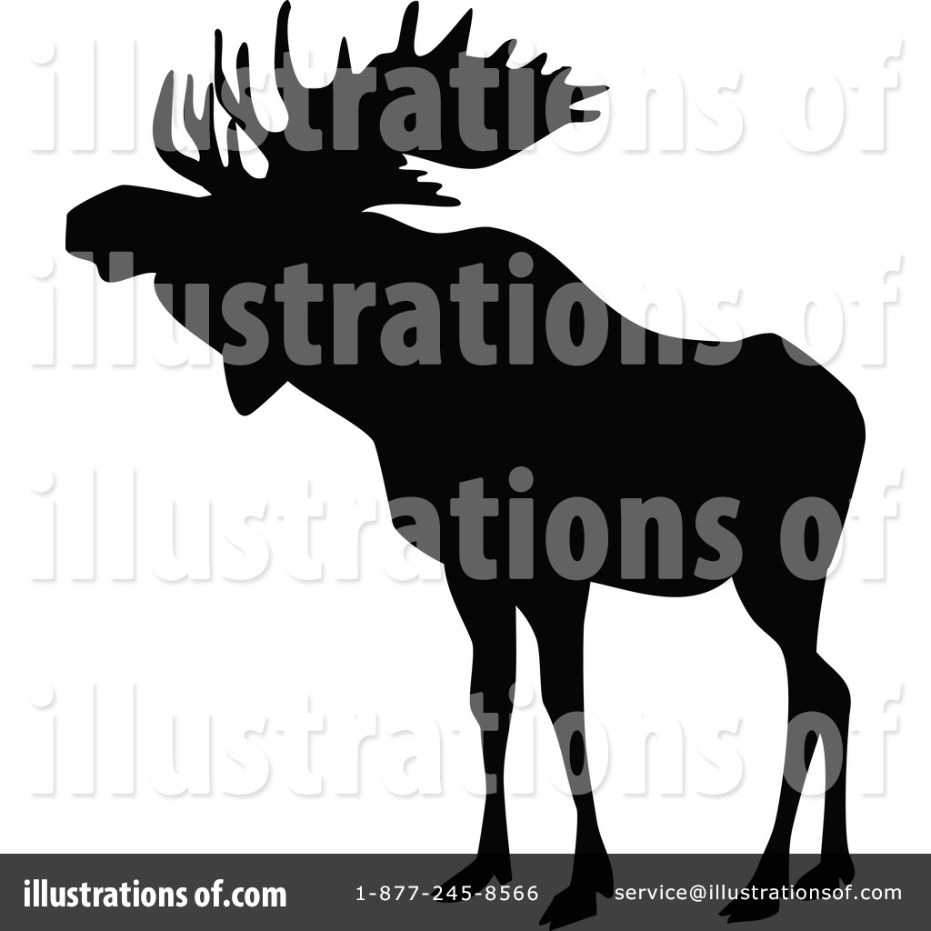 Moose clipart vintage #6