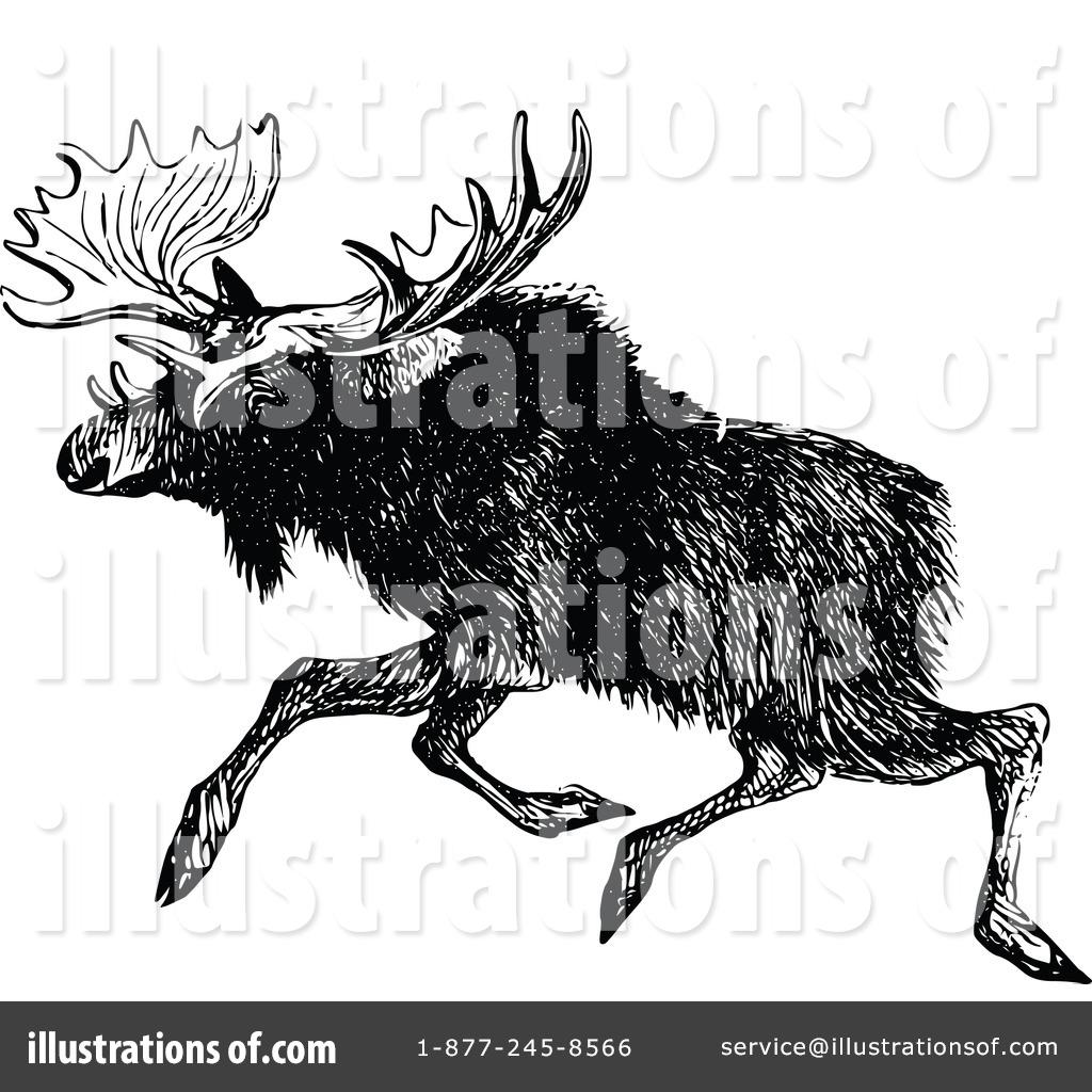 Moose clipart vintage #3