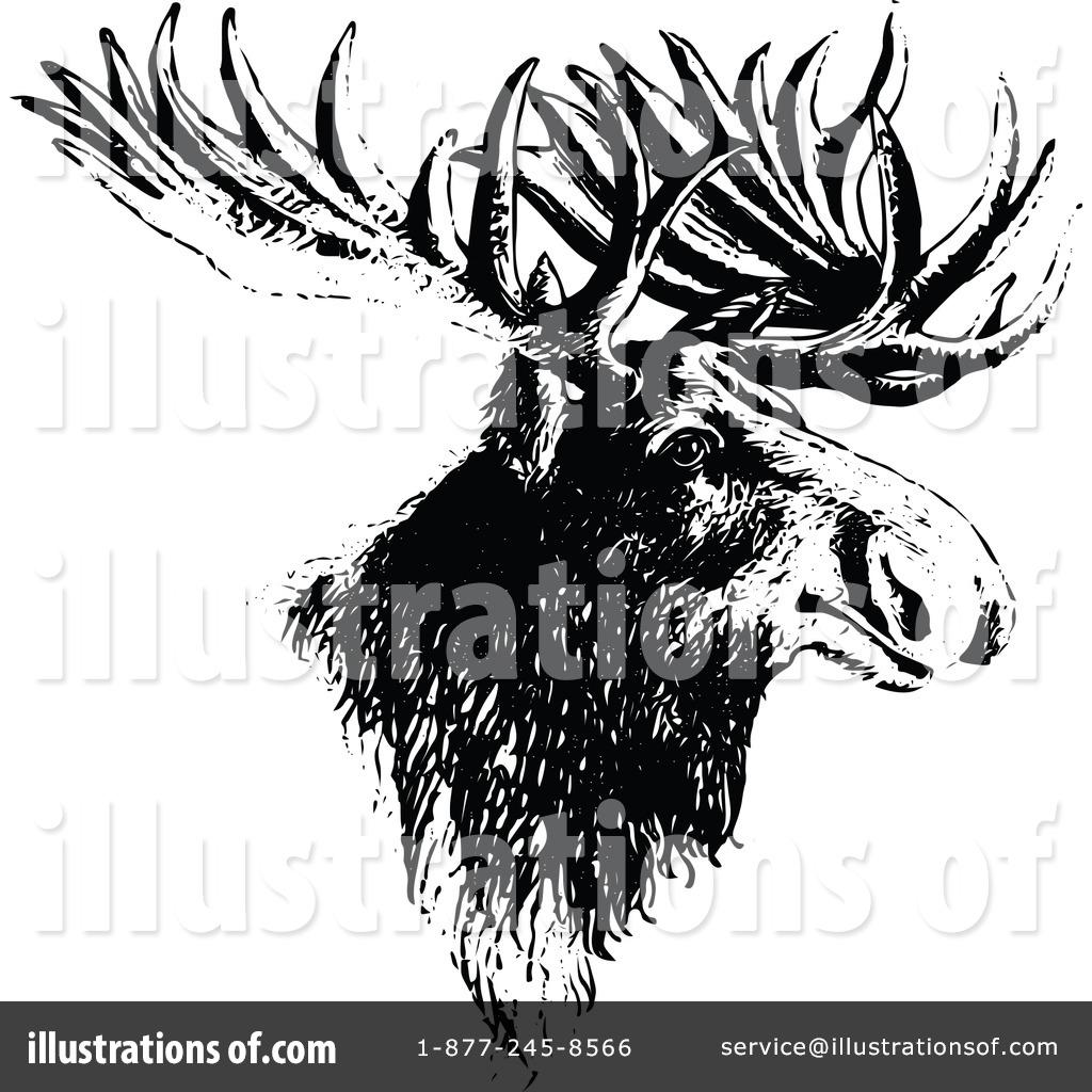 Moose clipart vintage #9