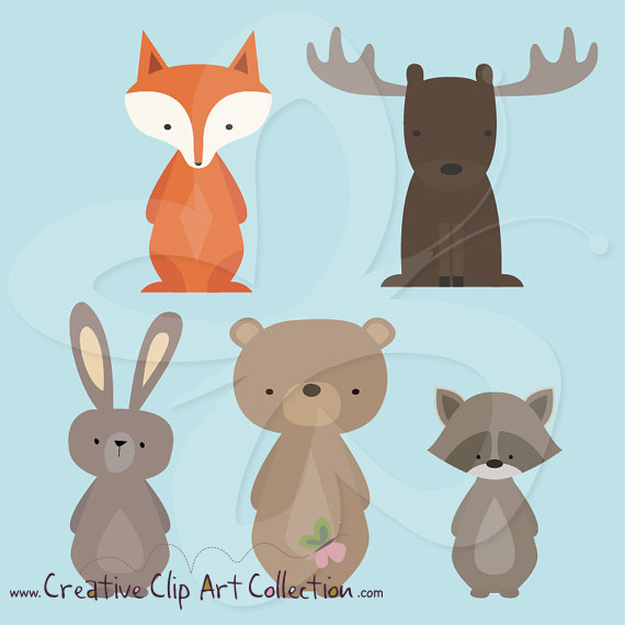 Moose clipart woodland #9