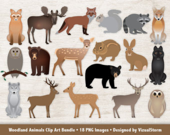 Moose clipart woodland #11