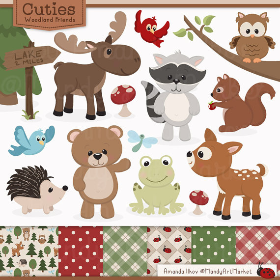 Moose clipart ear Animal Studio Woodland Clip Clipart