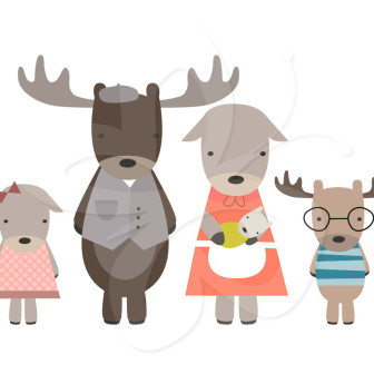 Moose clipart woodland #13