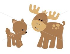 Moose clipart woodland #10