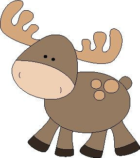 Moose clipart woodland #7