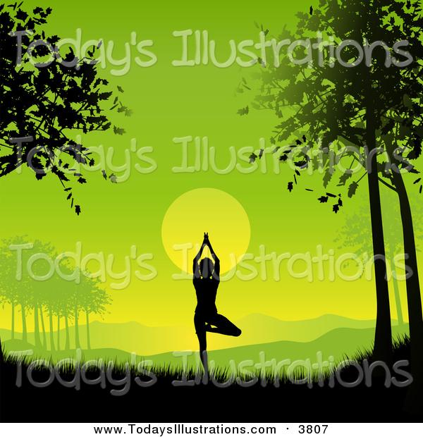 Morning clipart dawn Yoga  Green Yoga a