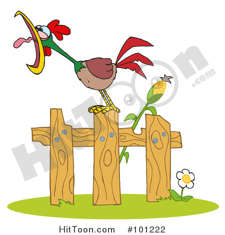 Morning clipart fence Stock Clipart Illustrations Preview &