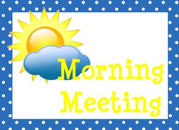 Morning clipart morning meeting #15