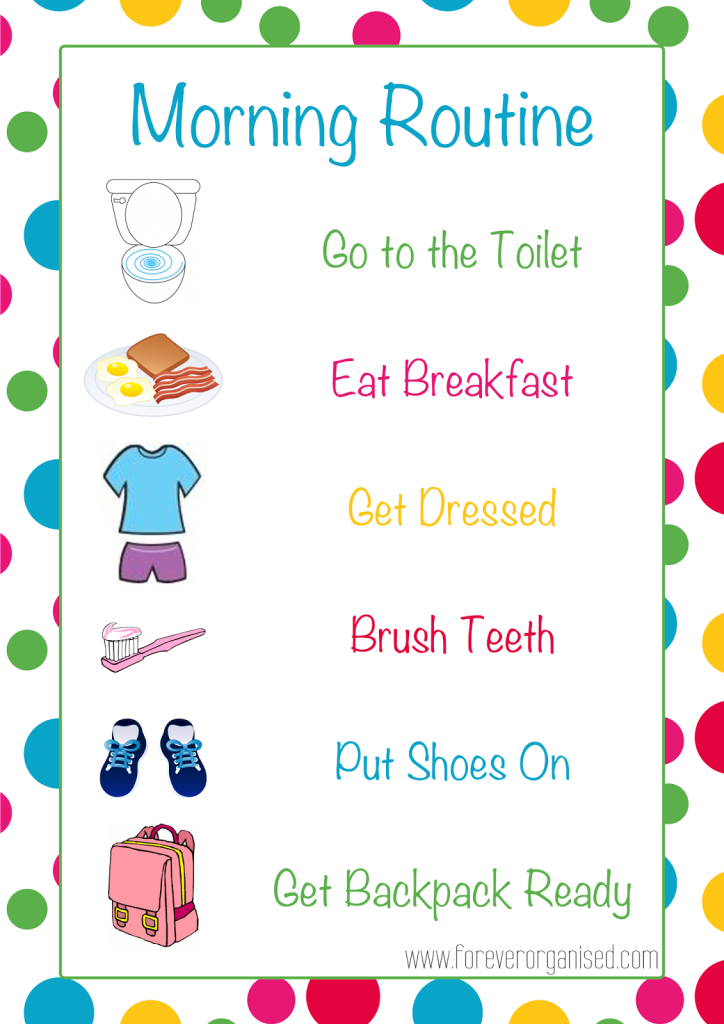 Morning clipart morning routine Morning Organised Kids Routines Routines