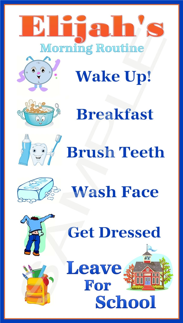 Morning clipart morning routine Morning More … Chart Pinteres…
