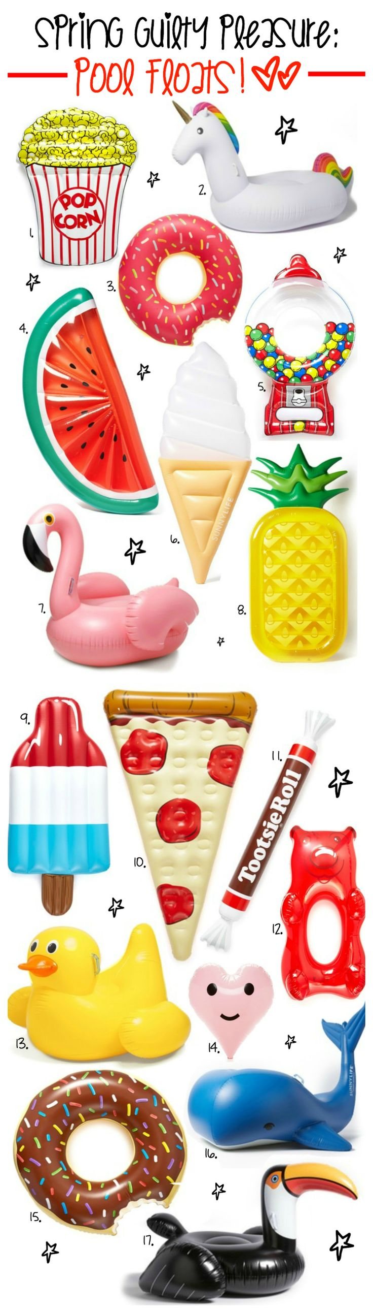 Morning clipart pool toy Floats pineapples slices the could