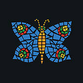 Mosaic clipart Mosaic · Free Mosaic Butterfly