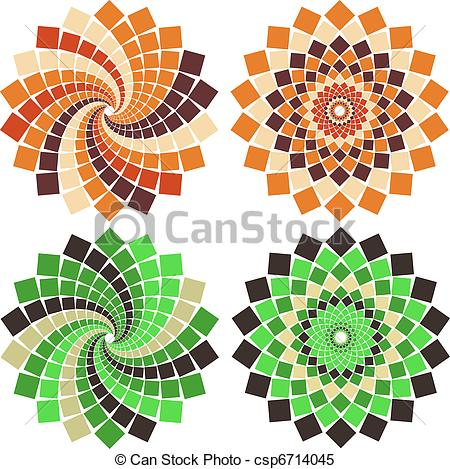 Mosaic clipart Stock Illustrations Vector flower Clip