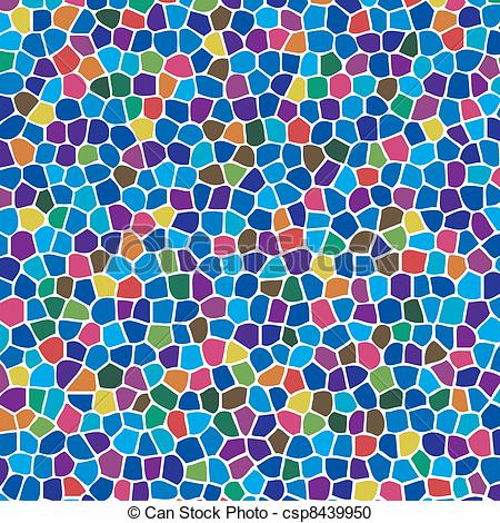 Mosaic clipart Background  vector colorful abstract