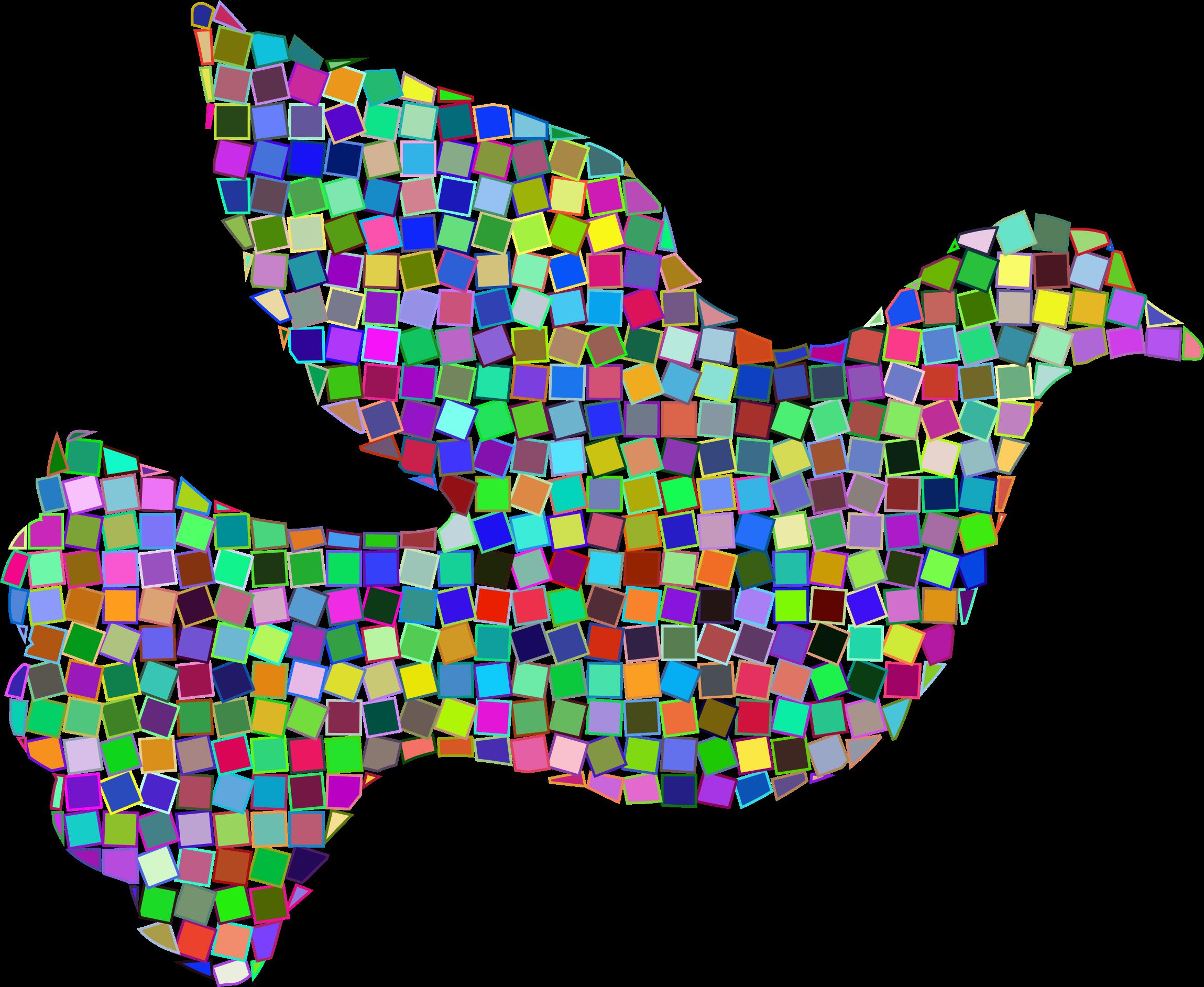 Mosaic clipart Mosaic Dove Prismatic Clipart Mosaic