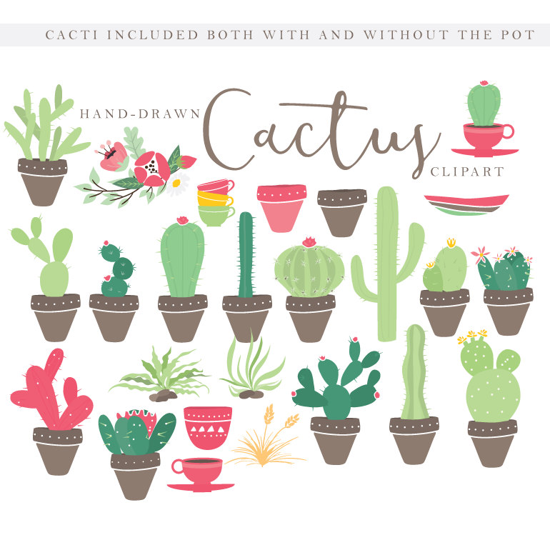 Baking clipart welcome hand Cactuses tribal drawn desert clipart