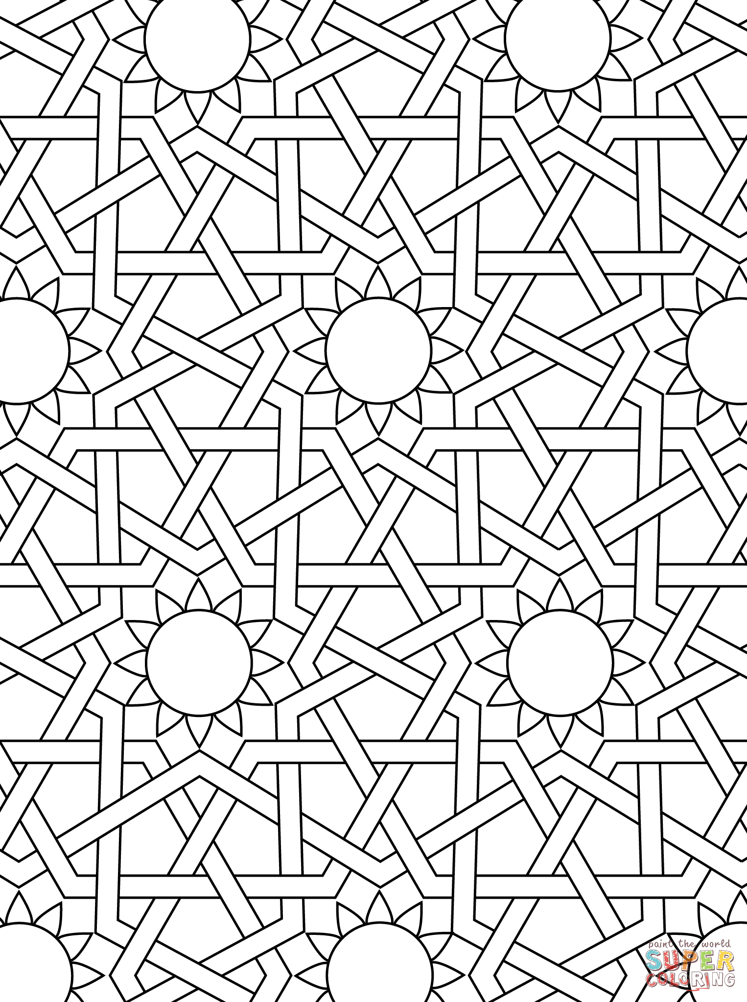 Drawn ornamental printable coloring Vector kids art coloring coloring