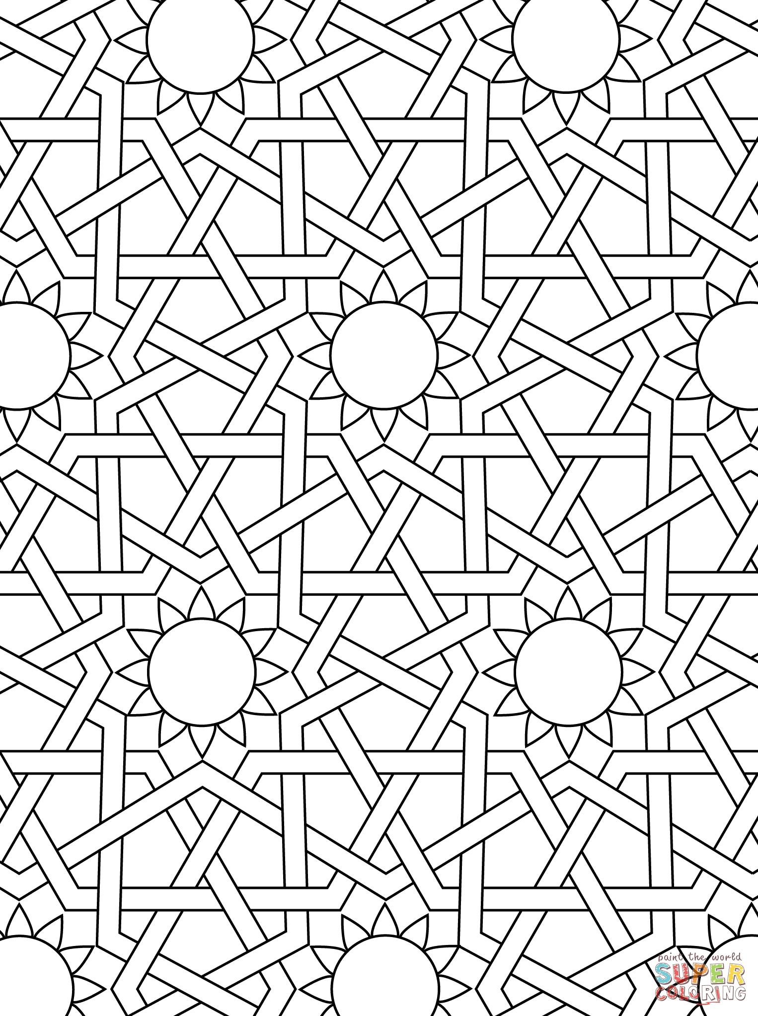 Drawn ornamental printable coloring #1