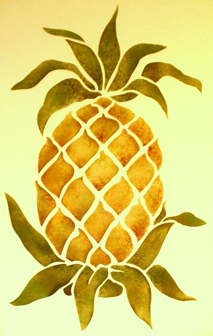 Pineapple clipart stencil Images best Fruit & 157