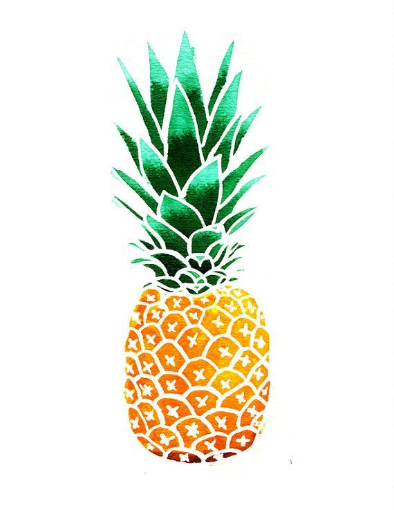 Blue clipart pineapple Clip pineapple pineapple on clipart
