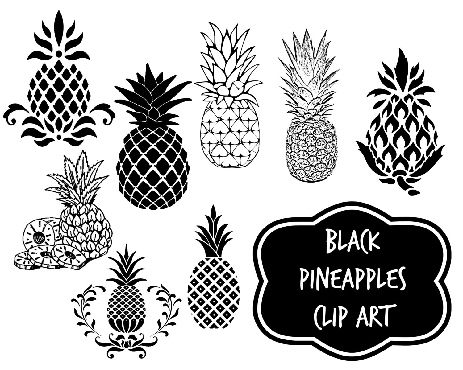 Pineapple clipart rose apple Clip download clip digital pineapples