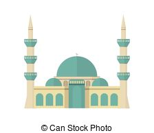 Mosque clipart EPS 16 Mosque colored and