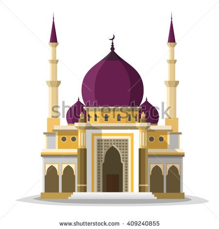 Mosque clipart Isolated mosque Mosque Clipart flat