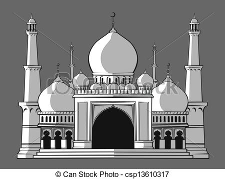 Mosque clipart arch Of or vector Mosque or