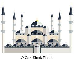 Mosque clipart blue mosque Vector Mosque Blue  Blue