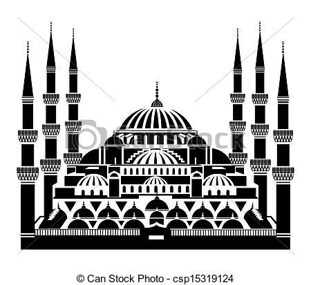 Mosque clipart blue mosque Istanbul mosque Mosque blue clipart